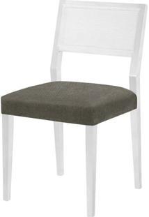 Cadeira Caiscais Assento Cor Cinza Com Base Laca Branco Fosco - 46501 - Sun House