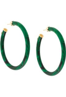 Gas Bijoux Caftan Hoop Earrings - Verde