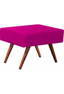 Puff Decorativo Charme Retangular Suede Pink - D'Rossi