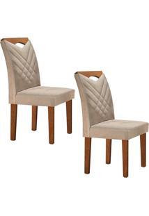 Conjunto Com 2 Cadeiras Oxford Chocolate E Jacquard