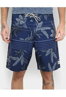Boardshort Hang Loose Leaves Masculino - Masculino