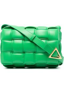 Bottega Veneta Bolsa Casette Matelassê - Verde