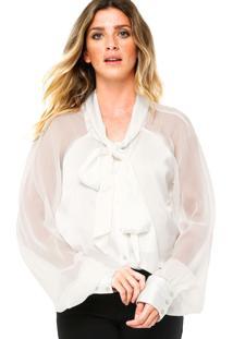 Camisa Manga Longa Carmim Lady Off-White