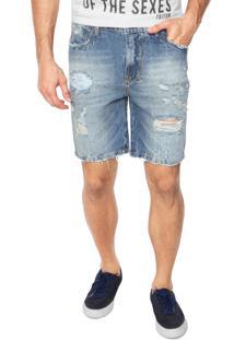 Bermuda Jeans Triton Patric Azul