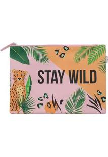 Necessaire Stz Stay Wild Rosa Colorido