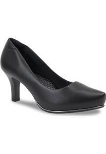 Sapato Feminino Scarpin Comfortflex - Feminino-Preto