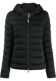 Save The Duck Padded Hooded Jacket - Preto