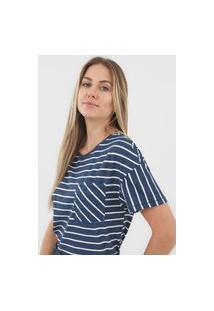 Blusa Hering Listrada Azul-Marinho
