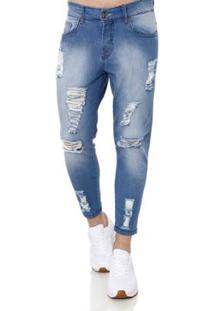 Calça Jeans Bivik Masculina - Masculino-Azul