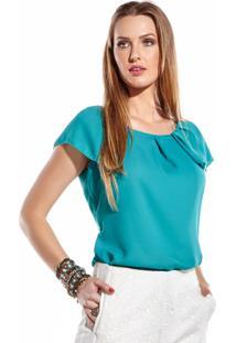 Blusa Sideral Drapeado Verde