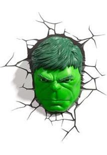 Luminária 3D Light Fx Rosto - Hulk