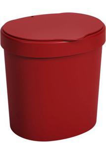 Lixeira Coza Com Tampa Vermelho 2,5L