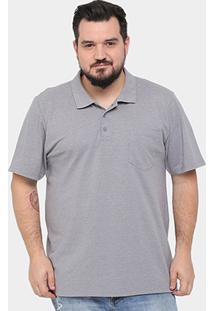 Camisa Polo Kohmar Piquet Plus Size Masculina - Masculino-Mescla
