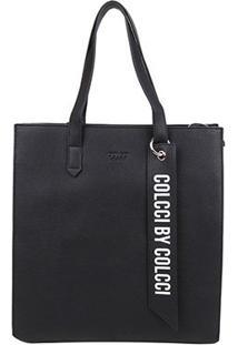 Bolsa Colcci Shopper Charm Feminina - Feminino-Preto