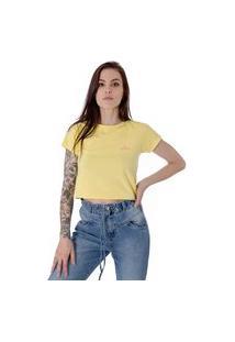 Camiseta Cropped Operarock Stone Amarela