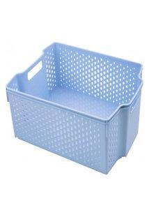 Cesta Empilhável Alta - 11L - 36,5Cmx28Cm - Container Blue