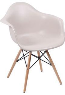 Poltrona Eames Dkr- Fendi & Madeira- 82X62X44Cm-Or Design