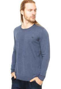 Suéter Ellus Basic Careca Azul