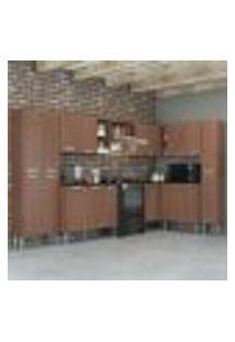 Cozinha Completa C/ Armário E Balcão Pequim Rock Multimóveis