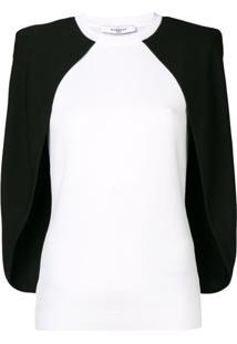 Givenchy Blusa Pelerine Bicolor - Branco