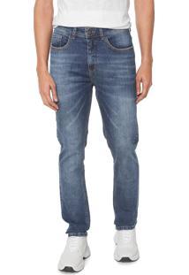 Calça Jeans Hering Slim Mustache Azul