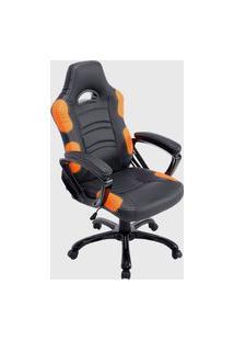 Cadeira Office Flash Preto E Laranja Rivatti