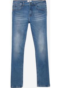 Calça John John Slim Pisa 3D Jeans Azul Masculina (Jeans Medio, 38)