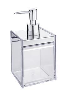 Porta Sabonete Líquido - Quadrata 8 X 8 X 17 Cm - 400 Ml Cristal Brinox