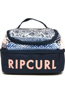 Nécessaire Rip Curl Double Up Mixed Azul-Marinho/Branca/Rosa