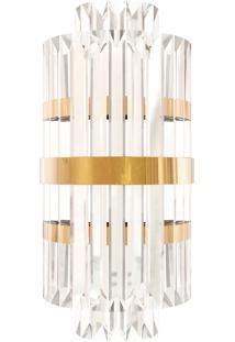 Arandela De Cristal Com Metal Dourado Ardenas