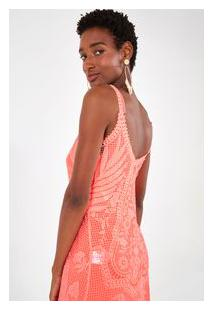 Vestido Cropped Guipire Rosa Frutti