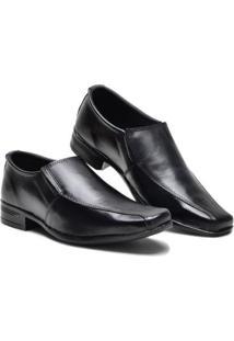 Sapato Social Garra Bico Quadrado Masculino - Masculino-Preto