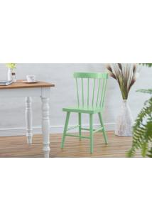 Cadeira Para Cozinha Folk Laqueada Verde Sálvia 45X46X83Cm