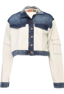 Jaqueta Jeans Oh, Boy! Cropped Azul - Kanui