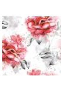 Papel De Parede Adesivo Floral Rosas 2,70X0,57M