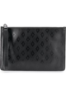 Marcelo Burlon County Of Milan Clutch Com Logo - Preto
