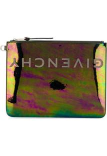 Givenchy Large Reversed Logo Clutch - Preto