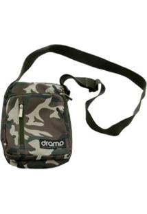Bolsa Drama Skateboards Side Bag Tirocolo Camuflada Verde