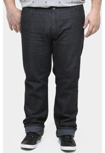 Calça Jeans Preston Black Plus Size - Masculino