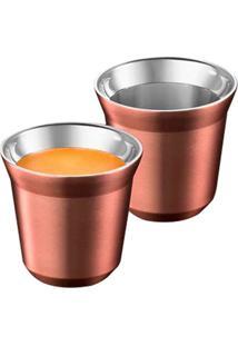 Conjunto De Xícaras Para Café Expresso De Metal Cobre 4 Peças - Tricae