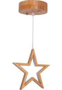 Luminária Pendente Em Bambu Büp Baby Natural Estrela