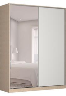 Guarda-Roupa Solteiro Com Espelho Tunas V 2 Pt 3 Gv Noce E Branco