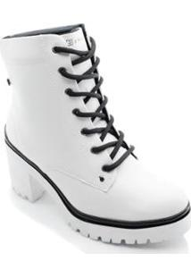 Bota Coturno Ramarim Ankle Boot 2050103 Feminina - Feminino-Branco