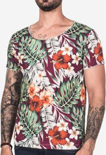 Camiseta Hermoso Compadre Tropical Masculina - Masculino-Vinho