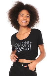 Camiseta Calvin Klein Jeans Live Once Preta
