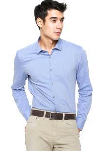 Camisa Calvin Klein Reta Azul