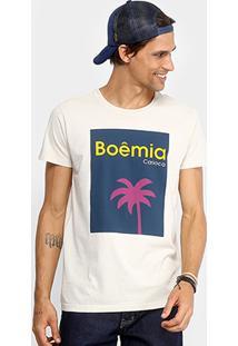 Camiseta Foxton Boêmia Masculina - Masculino-Areia