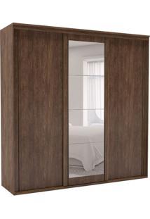 Guarda-Roupa Casal Inovatto I Com Espelho 3 Pt 6 Gv Marrom