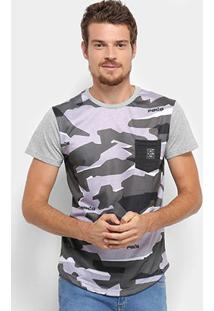 Camiseta Rg 518 Camuflada Manga Curta Masculina - Masculino