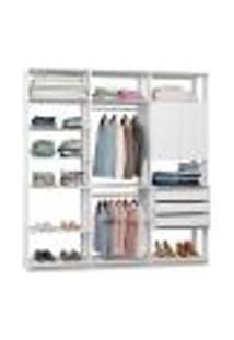 Guarda-Roupa Casal Modulado Clothes 2 Pt 3 Gv Branco